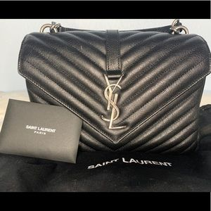 YSL COLLEGE MEDIUM IN MATELASSÉ LEATHER